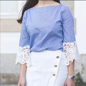 ZARA blouse with embroidered